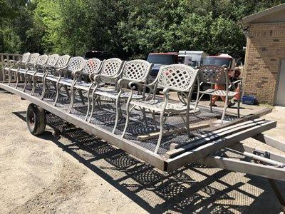 bulk sandblasted outdoor chairs