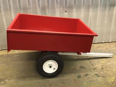 sandblasted and powder coated trailer