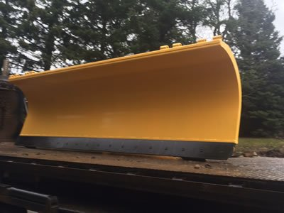 sandblasted and powder coated snow plow