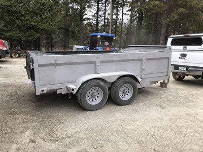 Sandblasted trailer