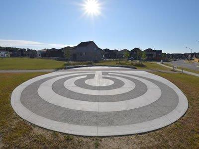 Circular Stencil on Cement Pad