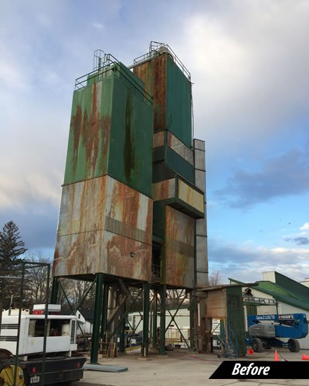 agriculture building rust removal project